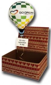 Gavekasse til ballonflyvning